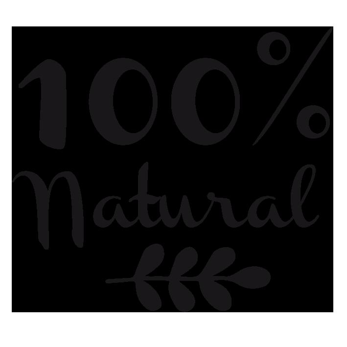 label 100 Natural logo