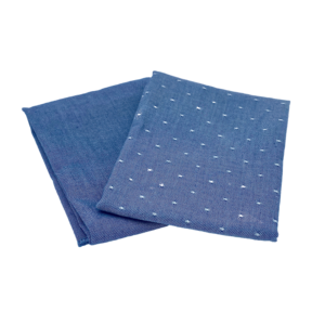 Alterosac Lot de 2 serviettes de table Bleu Jeans