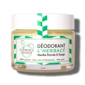 Clemence et Vivien Deodorant L Herbace Menthe poivree Sauge