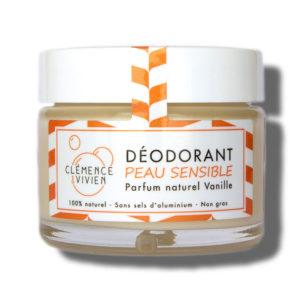 Clemence et Vivien Deodorant Peau Sensible Vanille