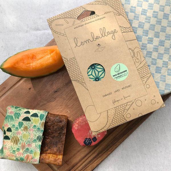 L Embeillage Lot de 3 emballages alimentaires SML 3