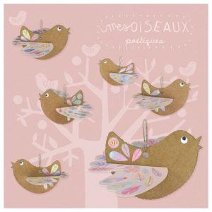 Pirouette Cacahouète Kit créatif Mes Oiseaux Poétiques