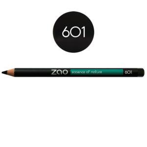 ZaoMakeUp crayon yeuxetlevres noir 601