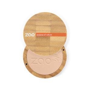 ZaoMakeUp poudrecompacte produitcomplet beigeorange 302